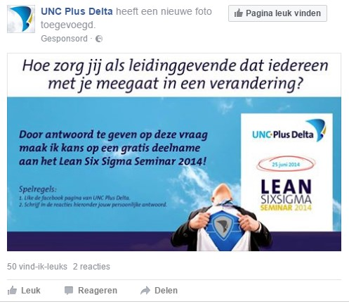 Facebook advertentie